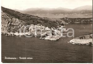 1960 PORTOVENERE (SP) Veduta aerea del golfo *Cartolina FG VG