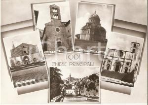 1960 ca TODI (PG) Vedutine con Tempio della consolazione *Cartolina FG NV