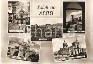 1960 ca ASSISI (PG) Vedutine con Cattedrale di San Rufino *Cartolina FG NV