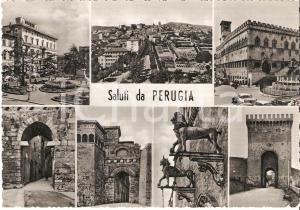 1950 ca PERUGIA Vedutine della città *Cartolina FG NV