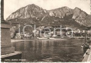 1951 CAPRI (NA) Marina grande - Panorama con piroscafo *Cartolina FG VG