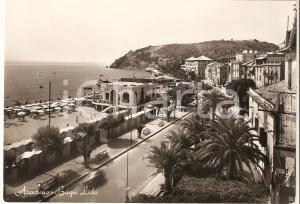 1952 ARENZANO (GE) Panorama con Bagni LIdo *Cartolina FG VG
