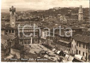 1940 ca VERONA Veduta aerea di Piazza delle Erbe *Cartolina FG VG