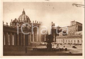 1935 CITTA' DEL VATICANO Panorama di Piazza San Pietro *Cartolina FG VG
