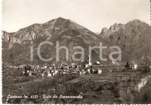 1957 CARENNO (LC) Panorama da SOPRACORNOLA *Cartolina FG VG