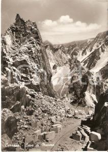 1960 ca CARRARA Panorama con cave di marmo *Cartolina FG NV