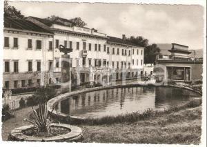 1961 ABANO TERME Sorgente Montirone e Hotel SAVOIA - TODESCHINI *Cartolina FG VG