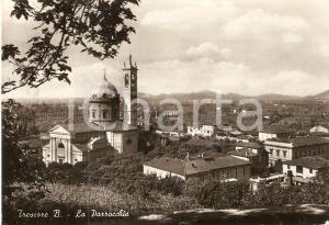 1964 TRESCORE BALNEARIO (BG) Veduta con chiesa parrocchiale *Cartolina FG NV