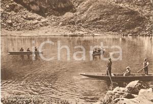 1950 ca OROPA (BI) Barche a remi sul Lago MUCRONE *Cartolina FG VG