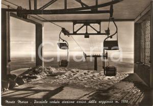 1955 ca PIATTO (BI) Stazione della seggiovia al Monte MARCA *Cartolina FG NV