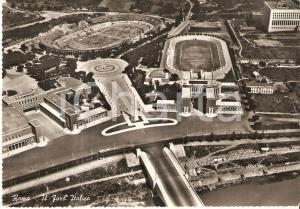 1959 ROMA Veduta aerea del FORO ITALICO *Cartolina FG VG