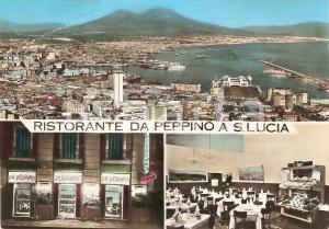 1965 ca NAPOLI Ristorante da Peppino a SANTA LUCIA *Cartolina FG NV