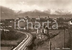 1960 ca CUNEO Panorama della città *Cartolina FG VG