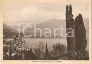 1945 ca LOVERE (BG) Panorama dal Convento dei Cappuccini Cartolina FG NV