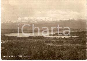 1946 LAGO DI VARESE Panorama con il Monte ROSA *Cartolina FG VG