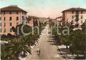1959 CHIAVARI (GE) Ragazze in bici in Viale delle Palme *Cartolina FG VG