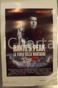 1997 DANTE'S PEAK Pierce BROSNAN Linda HAMILTON *Locandina DANNEGGIATA 33x53