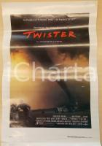 1996 TWISTER Helen HUNT Bill PAXTON Cary ELWES Regia Jan DE BONT Locandina 33x50