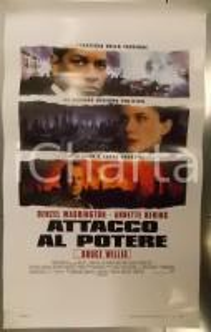 1998 ATTACCO AL POTERE Denzel WASHINGTON Bruce WILLIS *Locandina 33x53