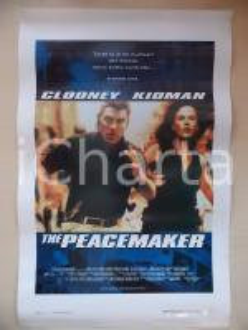 1997 THE PEACEMAKER George CLOONEY Nicole KIDMAN Mimi LEDER *Locandina 33x53