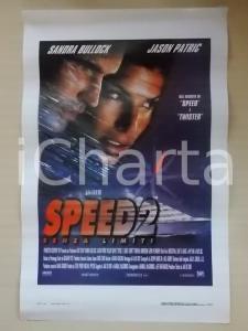 1997 SPEED 2 Sandra BULLOCK Jason PATRICK Regia Jan DE BONT *Locandina 33x53
