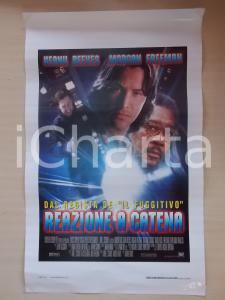1996 REAZIONE A CATENA Keanu REEVES Morgan FREEMAN *Locandina 33x53
