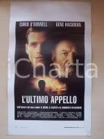 1996 L'ULTIMO APPELLO Gene HACKMAN Chris O'DONNELL Faye DUNAWAY *Locandina 33x53