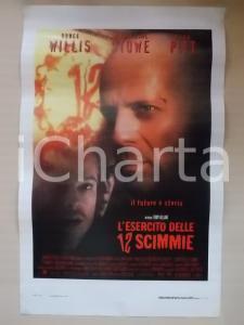 1995 L'ESERCITO DELLE 12 SCIMMIE Bruce WILLIS Brad PITT *Locandina 33x53
