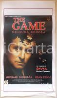 1997 THE GAME Michael DOUGLAS Sean PENN Regia David FINCHER *Locandina 33x75