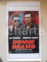 1997 DONNIE BRASCO Johnny DEPP Al PACINO Michael MADSEN *Locandina 33x55