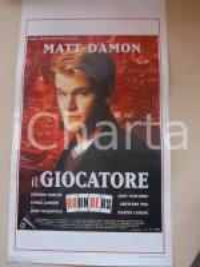 1998 IL GIOCATORE - ROUNDERS Matt DAMON Edward NORTON *Locandina 33x57