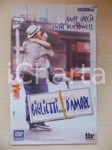 1999 BIGLIETTI D'AMORE Andy GARCIA Andie MacDOWELL *Locandina 33x50