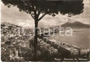 1950 ca NAPOLI Il Vesuvio visto da VILLANOVA *Cartolina FG NV