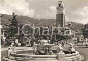 1955 ca MASSA (MS) Palazzo delle Poste e fontana dei putti *Cartolina FG VG