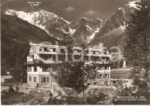 1955 MACUGNAGA (NO) Istituto SACRO CUORE e Monte Rosa *Cartolina FG VG