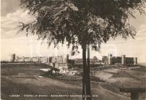 1951 LUCERA (FG) Panorama con il Castello Svevo *Cartolina FG VG