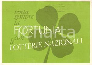 1983 NAPOLI Lotteria di AGNANO *Cartolina con tagliando FG VG