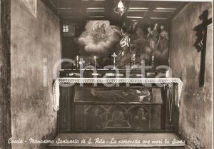 1953 CASCIA (PG) Cameretta dove morì SANTA RITA Santuario *Cartolina FG VG