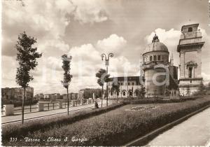 1952 VERONA Chiesa SAN GIORGIO Panorama *Cartolina FG VG