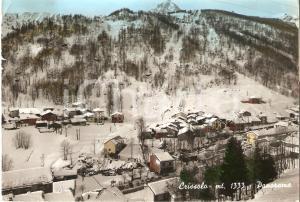 1968 CRISSOLO (CN) Panorama innevato  *Cartolina FG