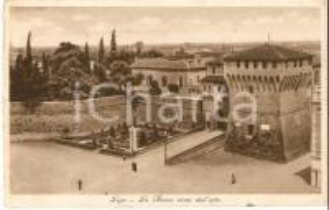 1935 LUGO (RA) La Rocca vista dall'alto *Cartolina FP VG