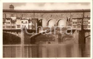 1932 FIRENZE Barca passa sotto PONTE VECCHIO *Cartolina FP VG