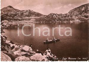1956 OROPA (BI) Escursionisti con canoa in gita Lago di MUCRONE *Cartolina FG VG