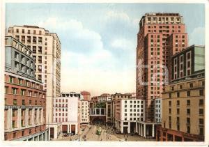 1954 GENOVA Via Dante e i due grattacieli *Cartolina FG VG