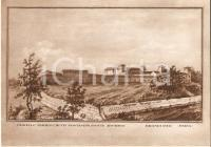 1975 BRANDUZZO (PV) Castello PARROCCHETTI - PIANTANIDA Cartolina ILLUSTRATA FG