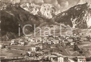 1955 MOLVENO (TN) Panorama con DOLOMITI DI BRENTA *Cartolina FG VG