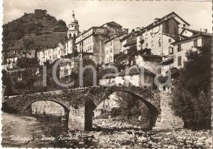 1955 ca VOLTAGGIO (AL) Ponte romano sul torrente LEMME *Cartolina FG VG