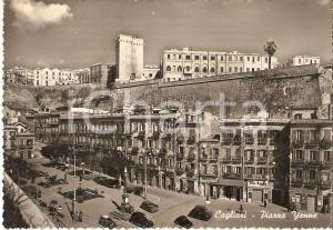 1952 CAGLIARI Agenzia La Tutelatrice Sarda in piazza YENNE *Cartolina FG VG