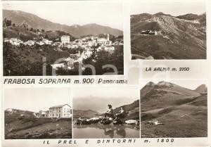 1960 ca FRABOSA SOPRANA (CN) Vedutine con PREL e dintorni *Cartolina FG VG
