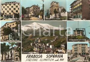 1966 FRABOSA SOPRANA (CN) Vedutine Albergo GILDA Hotel EXCELSIOR Cartolina FG VG
